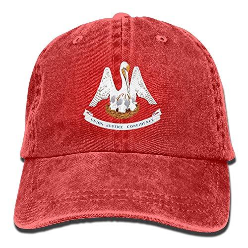 Osmykqe Louisiana State Flag Baumwolle einstellbare Cowboyhut Baseballmütze Forman und Frau 03VV8855