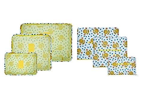 Lovlugga, Organiseur de bagage jaune Yellow Smile