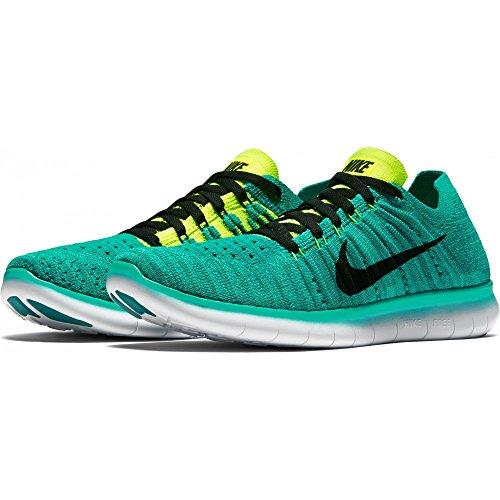 Nike Jungen Free Rn Flyknit (Gs) Laufschuhe Verde (Verde (clear jade/black-volt-rio teal))