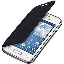 kwmobile Funda potectora práctica y chic FLIP COVER para Samsung Galaxy Young II en negro