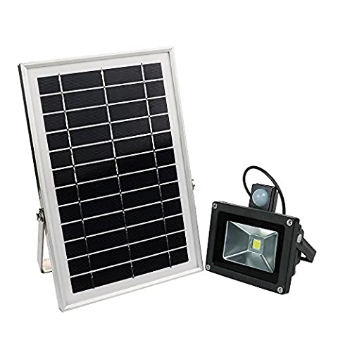 Solar Lights Outdoor, HUANLEMAI 5200mAh Solar Powered Security Light with Motion Sensor Waterproof IP65 600lm LED Ultra Bright Garden Flood Lighting for Patio Hotel Yard Pathway Driveway Garage Stage