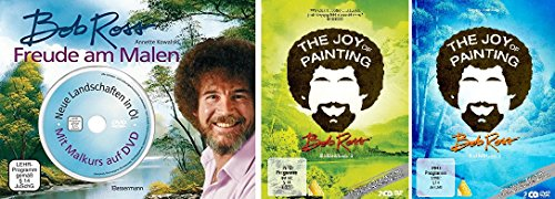 Bob Ross - Freude am Malen + Joy of Painting DVD 1+2 im Set - Deutsche Originalware [5 DVDs + Buch]