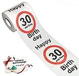 Geschenkidee lustige Geschenke - Unbekannt 1 Rolle _ Toilettenpapier -  30. Geburtstag / Dreißig und Sexy - Happy Birthd..
