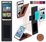 HTC One M9s Hülle in Braun Leder - innovative 4 in 1