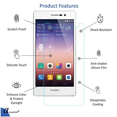 Ascension ® For Huawei Mate 10 pro Curve Tempered Gorilla Screen Protector High Premium Quality 9h Hard 2.5D ultra clear (Transparent) (Set of 1)