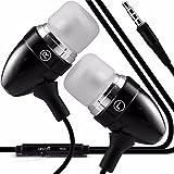CAT S60 - Premium Qualität aus Aluminium in Ear Ohrhörer Stereo Freisprecheinrichtung Kopfhörer In-ear -Kopfhörer Kopfhörer mit integriertem Mikrofon Mic & On-Off -Button (Black)