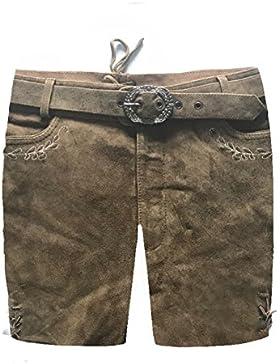 Herren Trachten Lederhose Trachtenlederhose Kurze Tracht Braun Gr.50#22
