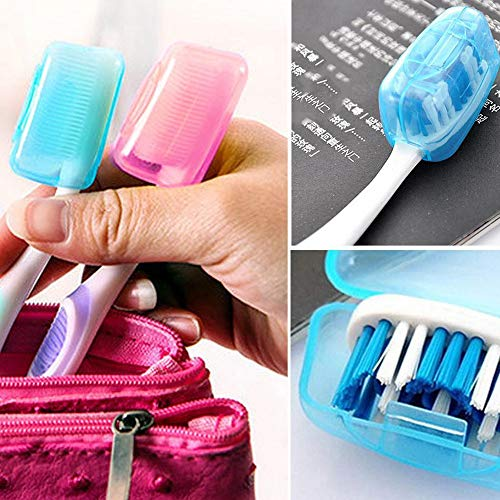5 STÜCK Tragbare Zahnbürsten Kopf Abdeckung Halter Reise Wandern Camping Fall 5PC Portable Toothbrushes Head Cover Holder Travel Hiking Camping Case (Color Scanner Portable)