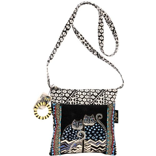 laurel-burch-spotted-cats-crossbody-tote-with-10-x-10-inch-zipper-top-and-25-inch-strap