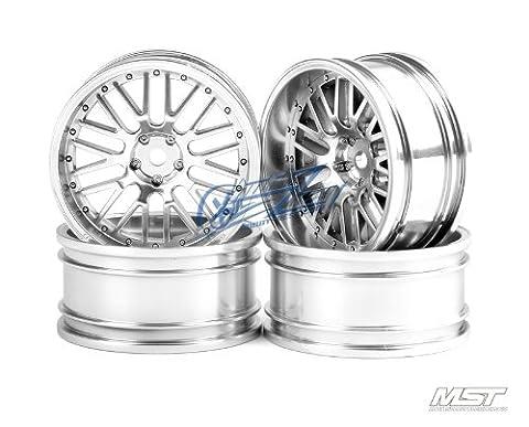 MST 102026FS Flat silver 10 spokes 2 ribs wheel (+8) (4)