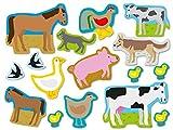 XXL-Großkonfetti * BAUERNHOF * mit 48 großen Konfetti-Teilen für eine Mottoparty oder Geburtstag // Party Kinder Kindergeburtstag Konfetti Deko Mottoparty Farm Tiere