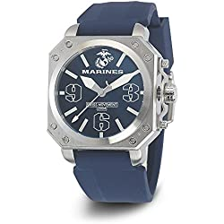 Wrist Armor Men's WA155 C4 Stainless Steel Analog Display Swiss Quartz Watch with Blue Silicone Strap