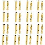 20Conjuntos de 2mm Banana Plug Motor electrónico conector hembra + macho --- Dorado