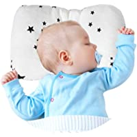 A Baby Cherry Baby Pillow :: Organic Cotton Head Shaping Pillow for Infants and Toddlers (0M to 5 Yr) - Unisex || Washable || 3D Mesh Structure || Prevent Flat Head + Free Pillow Cover (Star)