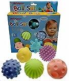 Himki 6 Stück Baby Ball Set Sensory Bälle Weichgummi Massage
