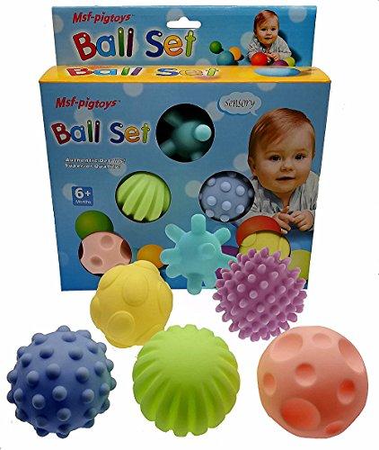Himki 6 Stück Baby Ball Set Sensory Bälle Weichgummi Massage Soft Ball (A)