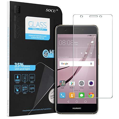 SOCU Schutzfolie für Huawei Nova, (5.0 zoll) Panzerglasfolie Gehärtetes Glas 9H Bildschirmschutzfolie für Huawei Nova