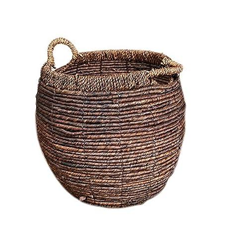 GAO® Storage barrels Round Straw Storage bucket Toys Storage basket Green plant Flower pot sets Dirty clothes basket