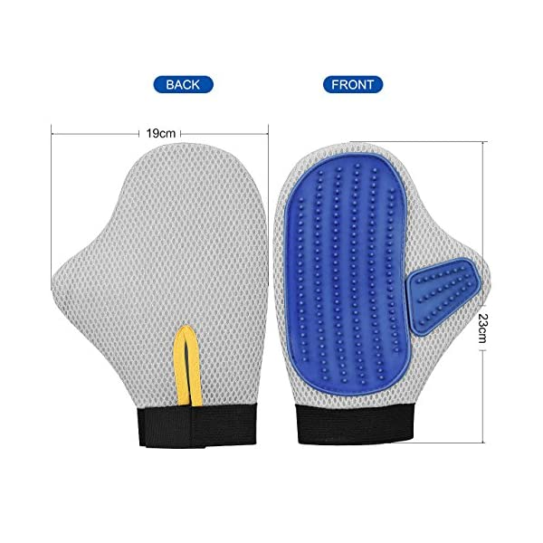 OMorc 2 Pack Pet Deshedding Grooming Glove 4