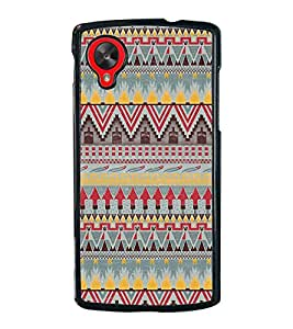 Multi Colour Pattern 2D Hard Polycarbonate Designer Back Case Cover for LG Nexus 5 :: LG Google Nexus 5