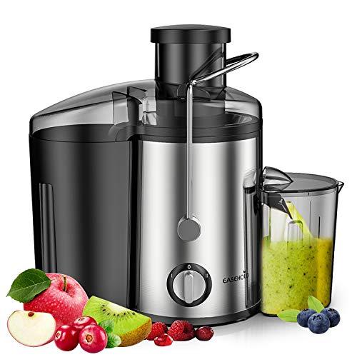 EASEHOLD Licuadora para Verduras y Frutas de 2 Velocidad, 800W Licuadora Exprimidor y Extractor de Zumos Exprimidor Centrífugo con Boca Ancha de 65mm y Base Antideslizante, Libre de BPA