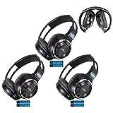 Universal Infrarot-Kopfhörer mit 3 3,5-mm-Aux-Kabel, kabellos, IR-DVD-Player, fürs Auto, TV, Video, Audio, 2 Kanäle, faltbar, verstellbar, 3 Stück