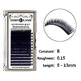 Generic B, 8mm : 2016 New Fashion1box High Quality 8-13mm Mixed Sized Makeup Individual Eyelashes Eye Lashes Extension Femal