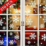 Tuopuda Weihnachtssticker 270 Stück Schneeflocken Fenstersticker Weihnachten...