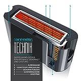 Arendo - Automatik Toaster Langschlitz | Defrost Funktion | Wärmeisolierendes Doppelwandgehäuse | integrierter Brötchenaufsatz | herausziehbare Krümelschublade | in Cool Grey - 5
