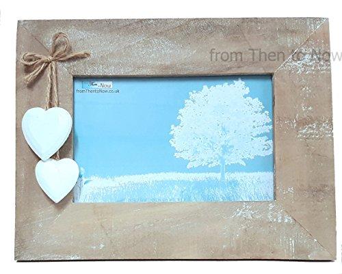 Foto Rahmen mit Weiß Herzen zum Aufhängen. 6x 4Shabby Chic ()
