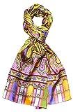 Lorenzo Cana Luxus Herren Seidenschal aufwändig bedruckt Paisley Muster Schal 100% Seide 50 cm x 165 cm harmonische Farben Schaltuch 8906711