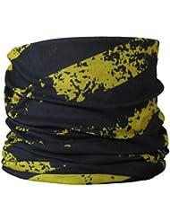 Braga para el cuello, pañuelo de microfibra multifunción, diseño de raya amarilla y negro