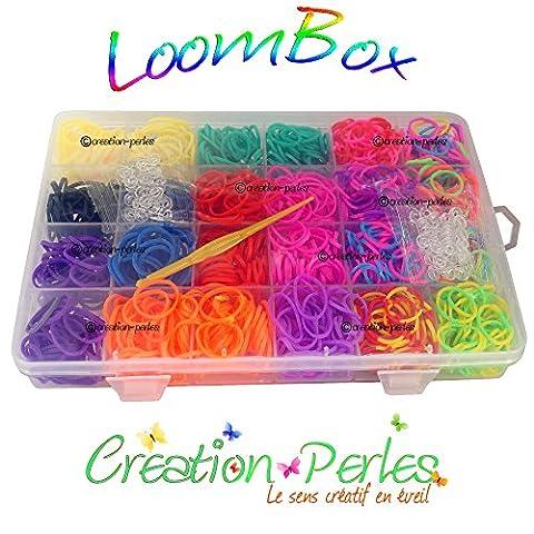 600 Élastiques Loom Band Pour métier à tisser (Loom) Bracelet Compatible Rainbow Loom, Cra-Z-Loom et autres kits Loom