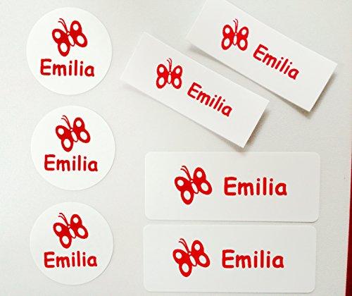 76 MDS Labels© Namensetiketten für Kindergarten oder Schule personalisierbar(Aufkleber und Bügeletiketten)