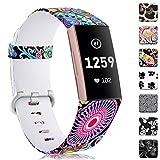 Zekapu Bracelet Compatible pour Fitbit Charge 3 & Charge 3 Se, Imperméable Durable...