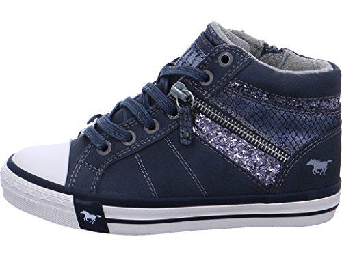 Mustang 5024-508, Sneakers Hautes Fille Bleu