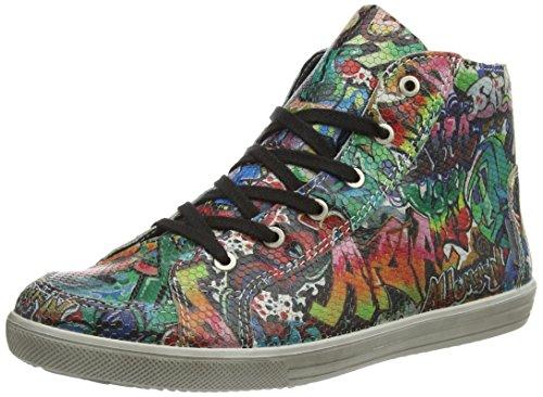 Ricosta Milana, Sneaker alta Ragazza Multicolore (Mehrfarbig (rosso 363))