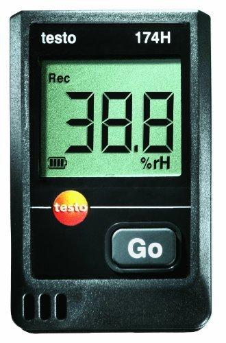 Testo 0572 1560 174T Mini data logger de temperatura incluye soporte de pared y calibraci/ón 1 canal color blanco