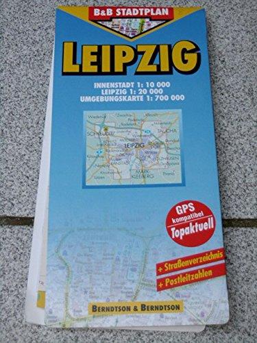 B&B Leipzig Stadtplan 1:20 000.