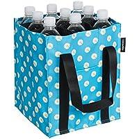 AmazonBasics - Sac à Bouteilles, 9 Compartiments, Bouteilles de 0,75 l, Imprimé Bleu