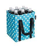 AmazonBasics - Flaschentasche, 9 Fächer, 1,5 l Flaschen, Blau