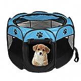 SODIAL tragbares faltbares Zelt der Haustier Haus von Hund Cage Hund Katze Zelt Laufstall Welpen Zwinger einfache Operation Achteckige Zaun #B