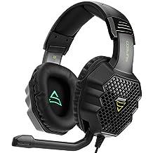 [2017 Supsoo G811 Multi-Platform Nuevo Xbox un PS4 Gaming Headset] 3.5 mm Auriculares con auriculares con auriculares con micrófono, Depp Bass, cancelación de ruido auriculares para PS4 Nuevo Xbox uno PC Laptop Mac iPad