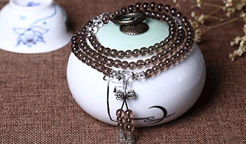 K&C Juwelen 109 Perlen Gebet Perlen Armband Kristall Armband Tumble Poliert Stretchy 0,24 Zoll Weiß Bulk Kunststoff-juwelen