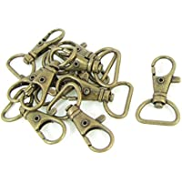 TOOGOO(R) Tono de bronce Gancho de presion de uso ornamento correa de bolso del metal 10pzs