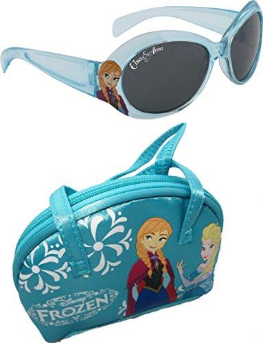 Disney Frozen Girl's Sunglasses & Case Set