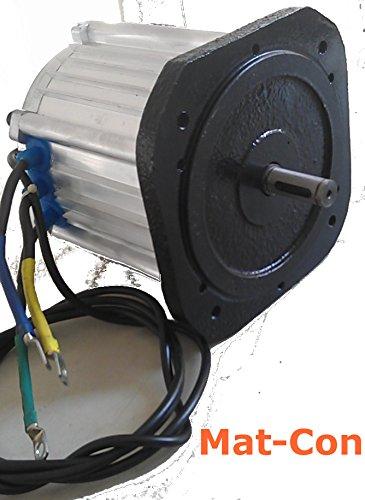 Elektromotor E-Motor BLDC Gleichstrom 48V 3KW 3000W (max. 5KW 5000W) 27Nm 3000U/min, 3 Phasen, mit Hallsensoren, bürstenlos - 3-phasen-motor