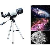 G-Anica® Télescope de Bureau Astronomique, 150 X Télescope de Bureau Réfracteur Astronomique 300 x 70 mm - Pour les Astronomes Débutants et les Adolescents Observation des Etoiles Lune Oiseaux- Détecteur, Trépied e Accessoires (Pour observer la lune et les autres étoiles)