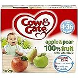 Vache & Portail Pomme Et De Poire De Fruits 100% Avec De La Vitamine C À Partir De 4-36 Mois 4 X 100G