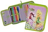 alles-meine.de GmbH 25 TLG. gefüllte Federmappe -  Disney Fairies - Tinkerbell  - Kinder / Schiefermappe Kindergarten Schule - Schreibmappe - Stiftemappe - Stifteetui / Schmett..